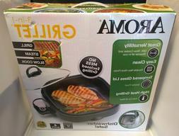 Aroma Housewares ASP-218B 3-in-1 Grillet Indoor Grill 4-Quar