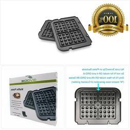 Gvode Waffle Plates for Cuisinart Griddler GR-4N, GR-5B, GR-