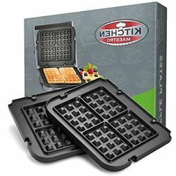 Kitchen Maestro Griddler Waffle Plates for Cuisinart Griddle