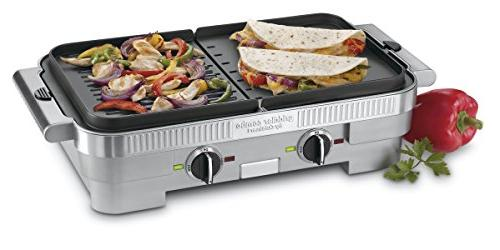 Cuisinart GR-55 Stainless Steel Nonstick Grill/Griddle Combo