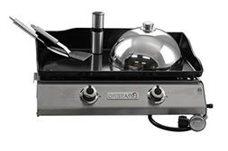 Brasero  Portable 26 inch outdoor Flat top Gas griddle -2 bu