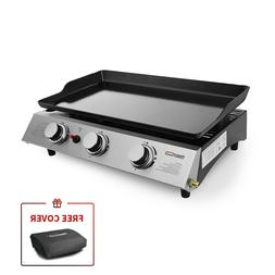 Royal Gourmet Portable Tabletop 3-Burner Propane Gas Grill G