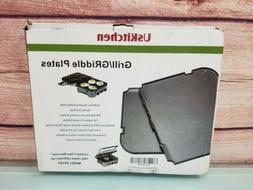 UsKitchen Reversible Grill/Griddle Plate for Cuisinart Gridd